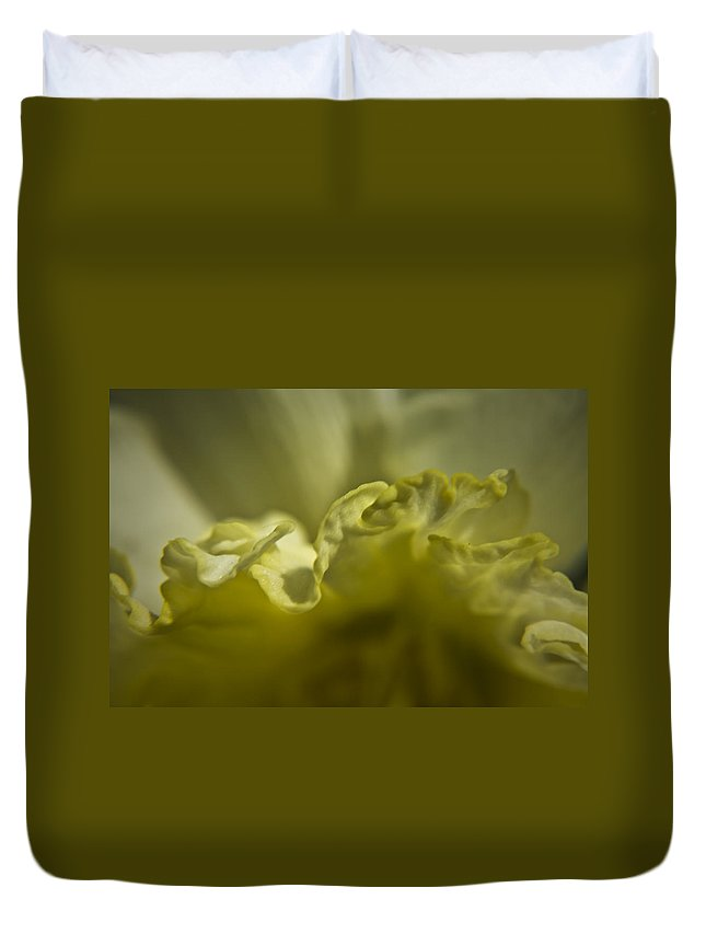 Flower Duvet Cover featuring the photograph Daffodil Ruffles by Teresa Mucha