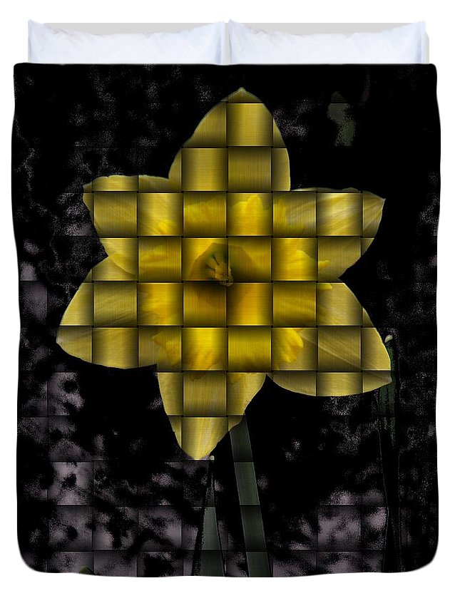 Daffodil Duvet Cover featuring the photograph Daffodil Weave by Tim Allen