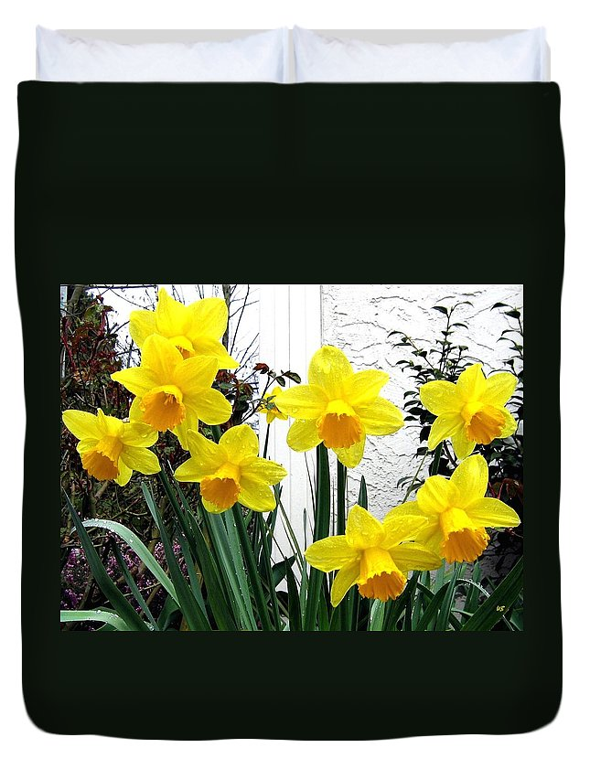 Daffodils Duvet Cover featuring the photograph Daffodils by Will Borden
