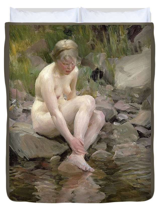 Dagmar Duvet Cover featuring the painting Dagmar by Anders Leonard Zorn