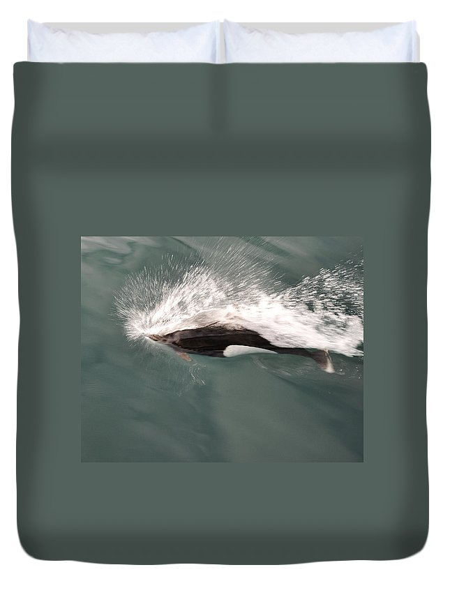 Dahl Dolphin Duvet Cover featuring the photograph Dahl Dolphin by Phyllis Taylor