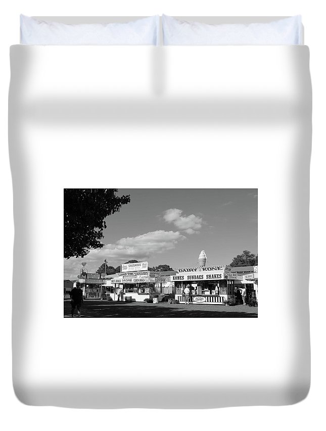 Ice Duvet Cover featuring the photograph Dairy Kone by JP Morris