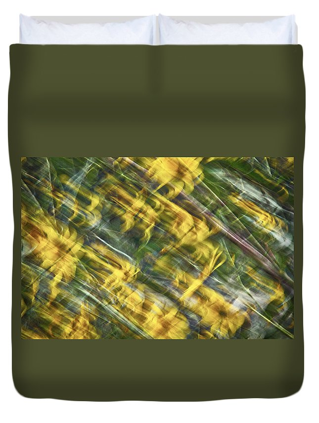 Daisy Duvet Cover featuring the photograph Daisy Abstract by Stuart Litoff