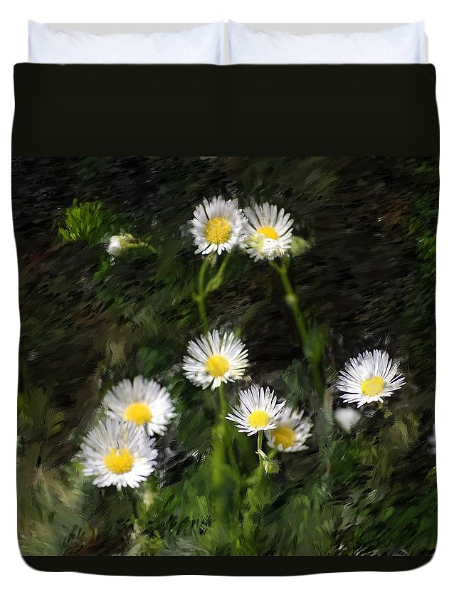 Digital Photograph Duvet Cover featuring the photograph Daisy Day Fantasy by David Lane