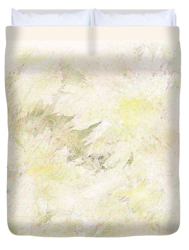 Abstract Duvet Cover featuring the digital art Daisy Dreams by Rachel Christine Nowicki