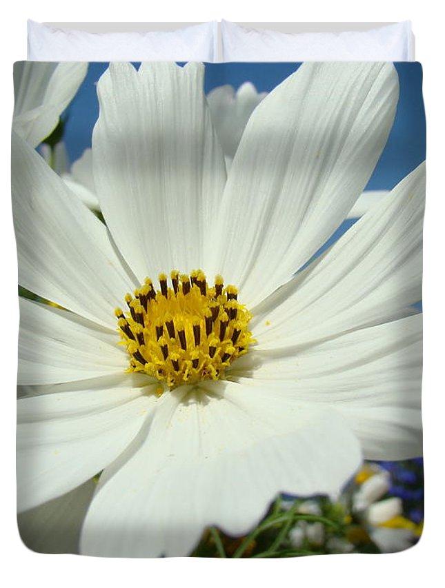 Daisy Duvet Cover featuring the photograph Daisy Flower Garden Artwork Daisies Botanical Art Prints by Baslee Troutman