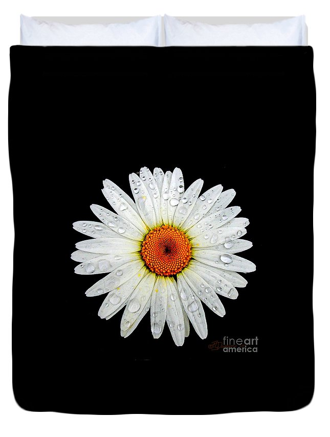 Daisy Duvet Cover featuring the photograph Daisy by Patricia L Davidson