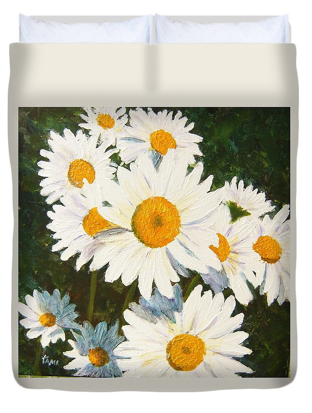 Daisy Duvet Cover featuring the painting Daisy by Tami Booher