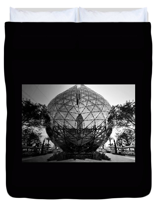 Fine Art Photography Duvet Cover featuring the photograph Dali Ball by David Lee Thompson
