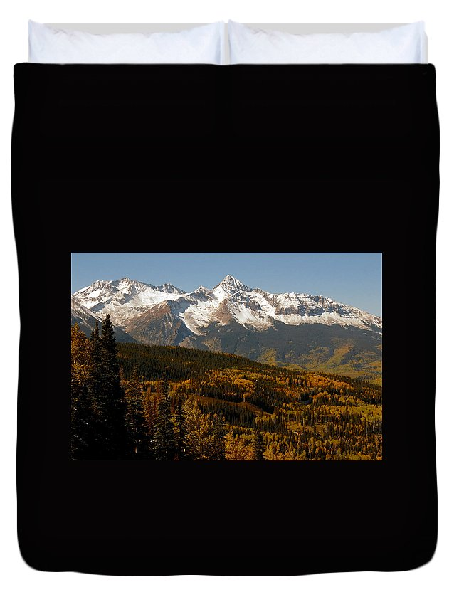 San Juan Mountains Colorado Duvet Cover featuring the photograph Dallas Divide by David Lee Thompson