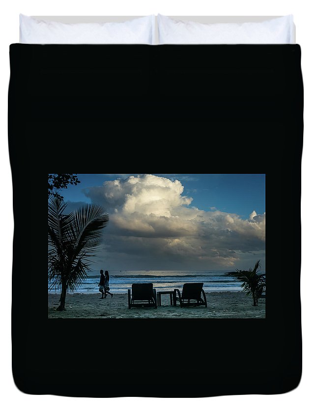 Palawan Duvet Cover featuring the photograph Daluyan Resort On Sabang Beach by Edward Nowak
