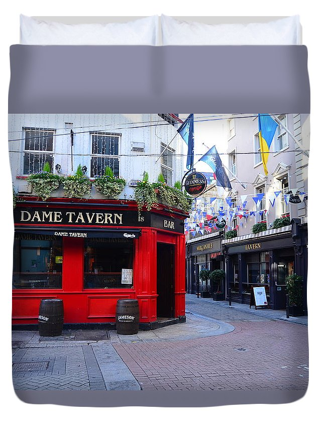 Pub Duvet Cover featuring the photograph Dame Tavern by Robert Coffey