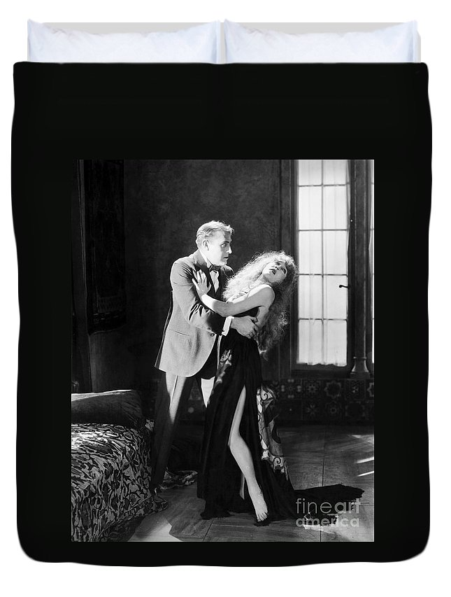 -damsel In Distress- Duvet Cover featuring the photograph Damsel In Distress by Granger