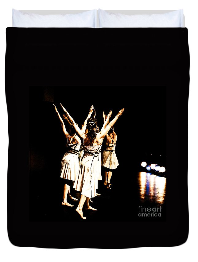 Dance Duvet Cover featuring the photograph Dance - Y by Scott Sawyer
