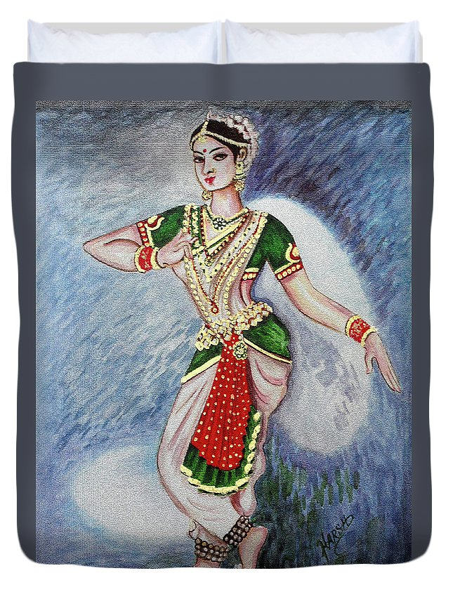 Dance Duvet Cover featuring the painting Dance 2 by Harsh Malik