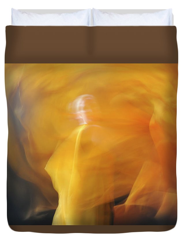 Dance Duvet Cover featuring the photograph Dance Of Fire by Adele Aron Greenspun