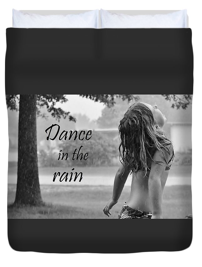 Rain Duvet Cover featuring the photograph Dance In The Rain by Denise Irving