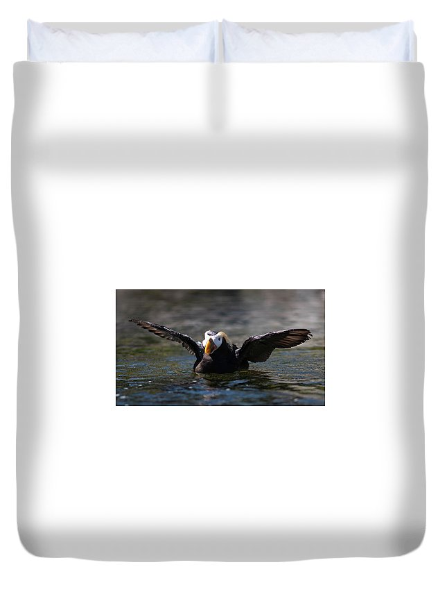 Duvet Cover featuring the photograph Dance by Jade Woods
