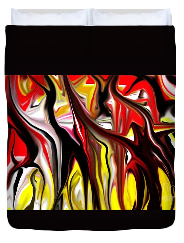 Abstract Duvet Cover featuring the digital art Dance Of The Sugar Plum Faries by David Lane