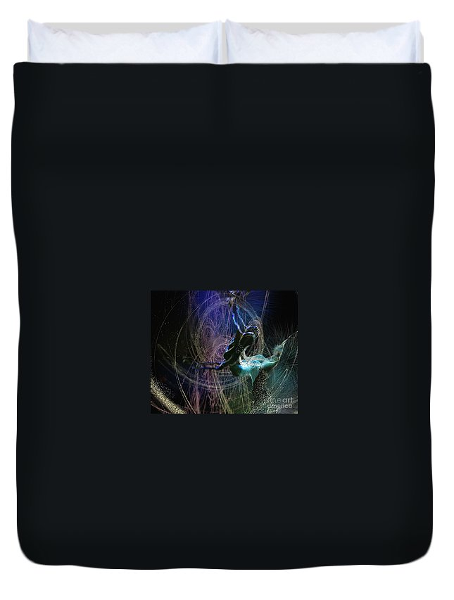 Nature Painting Duvet Cover featuring the painting Dance Of The Universe by Miki De Goodaboom
