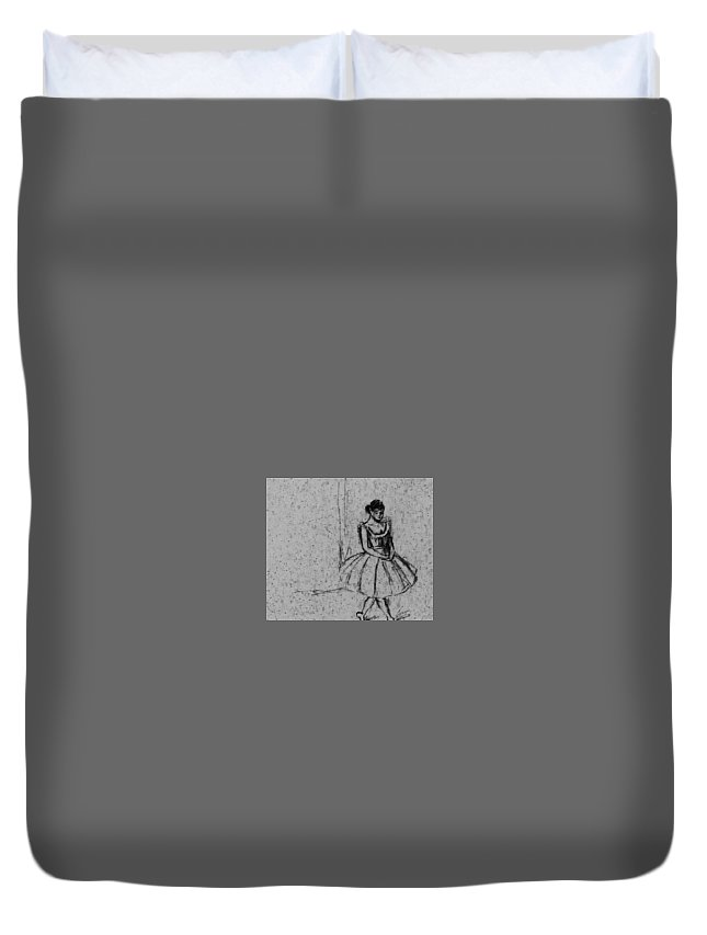 Dancer Duvet Cover featuring the drawing Dancer 62316 by Hae Kim