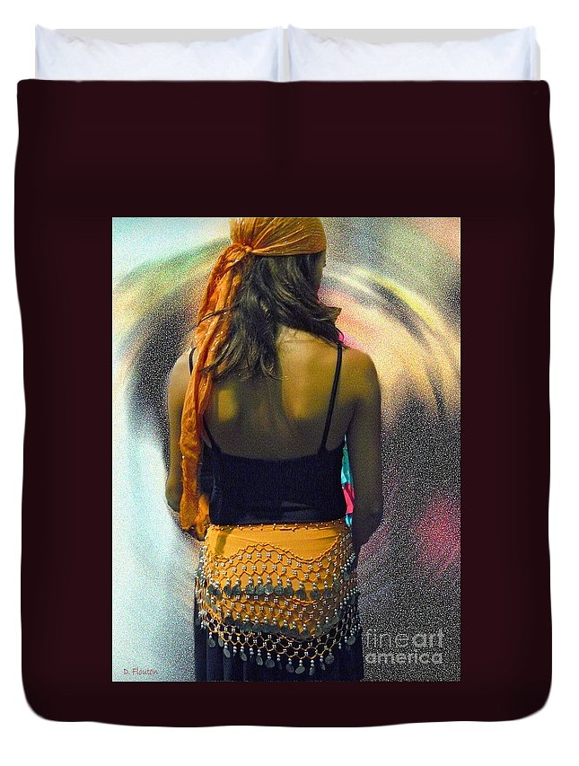 Dancer Duvet Cover featuring the photograph Dancer by Dee Flouton