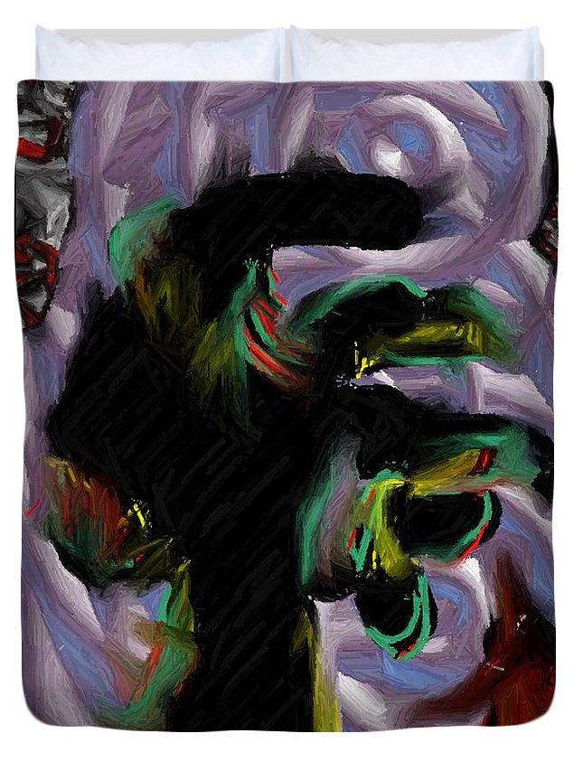 Digital Art Duvet Cover featuring the digital art Dancer by Ron Bissett