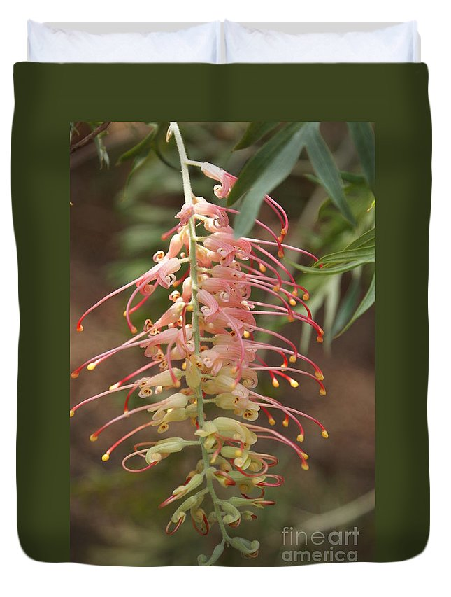 Floral Duvet Cover featuring the photograph Dancer by Shelley Jones