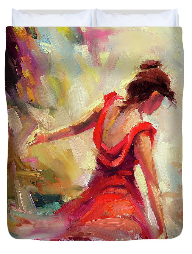 Dancer Duvet Cover featuring the painting Dancer by Steve Henderson
