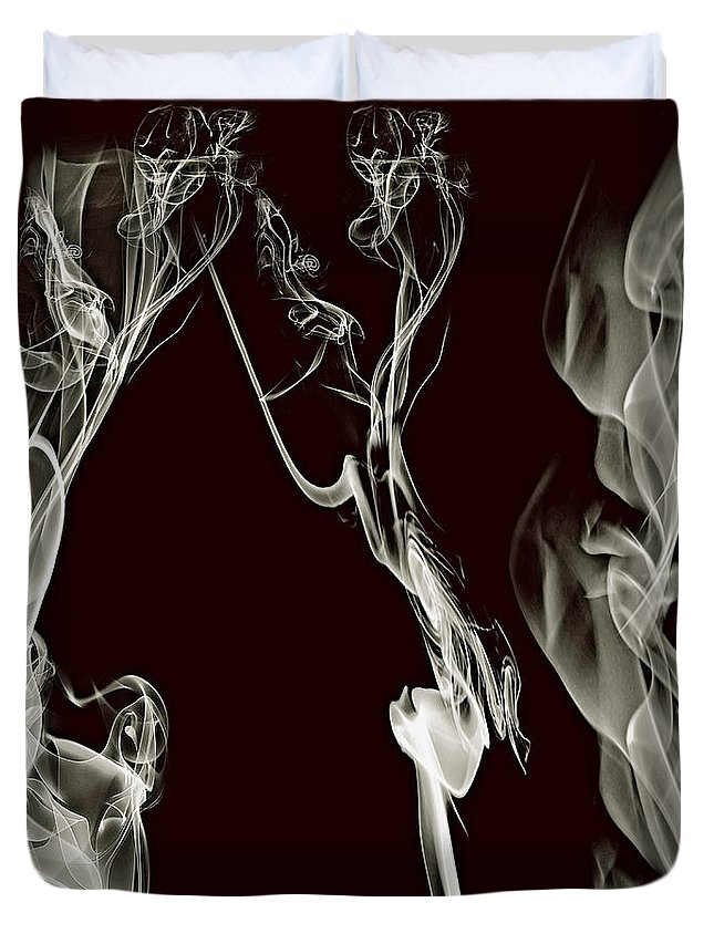 Clay Duvet Cover featuring the digital art Dancing Apparitions by Clayton Bruster