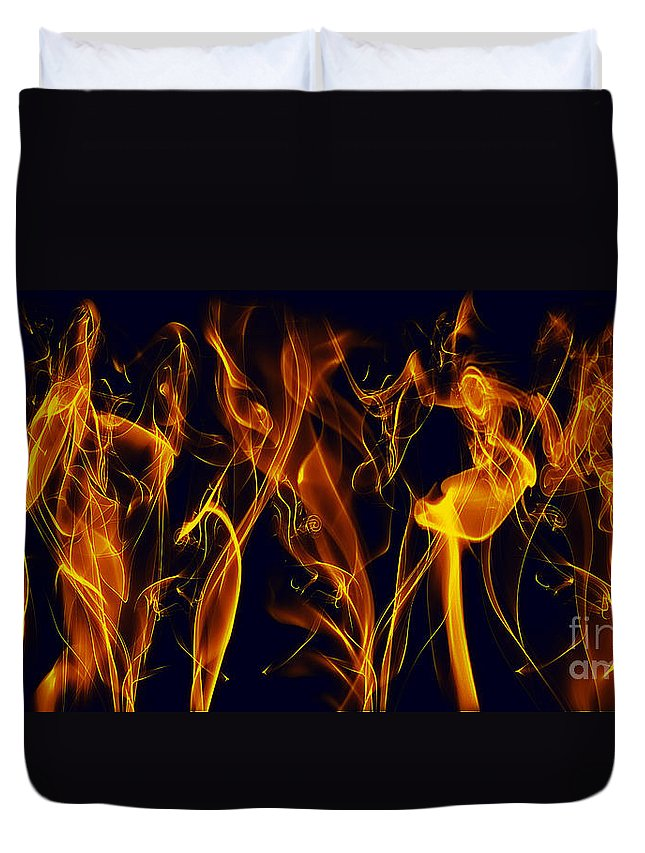 Clay Duvet Cover featuring the digital art Dancing by Clayton Bruster