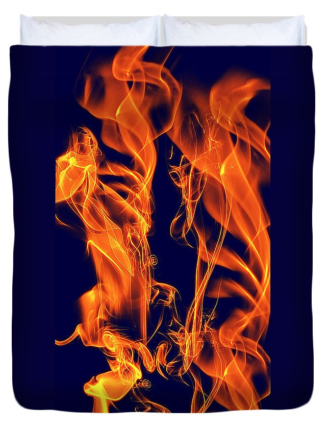 Clay Duvet Cover featuring the digital art Dancing Fire I by Clayton Bruster
