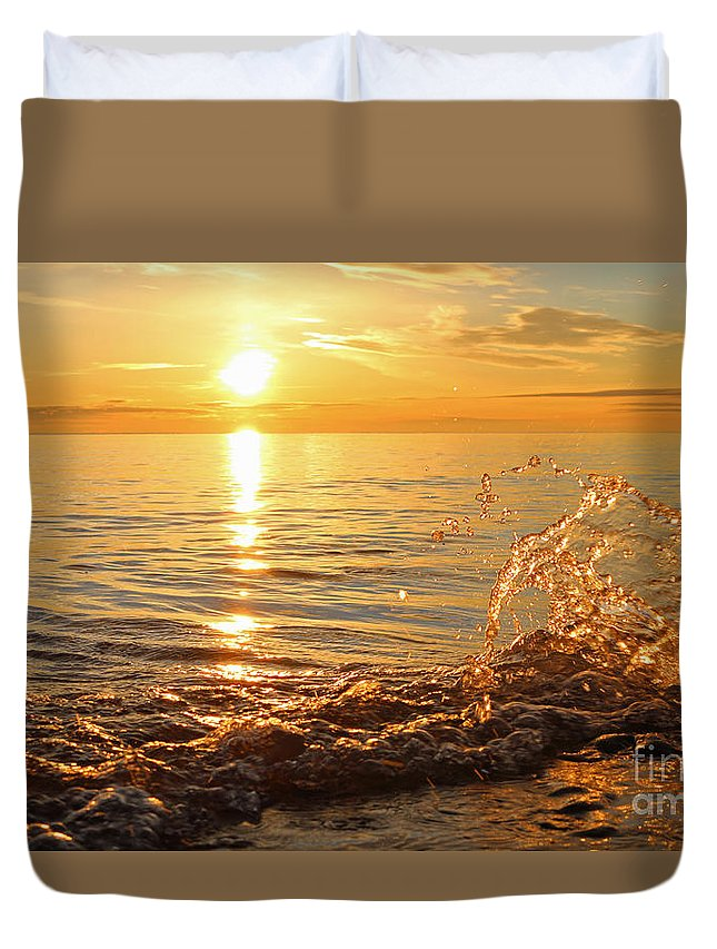 Sun Duvet Cover featuring the photograph Dancing In The Sunlight 1 by Eric Curtin