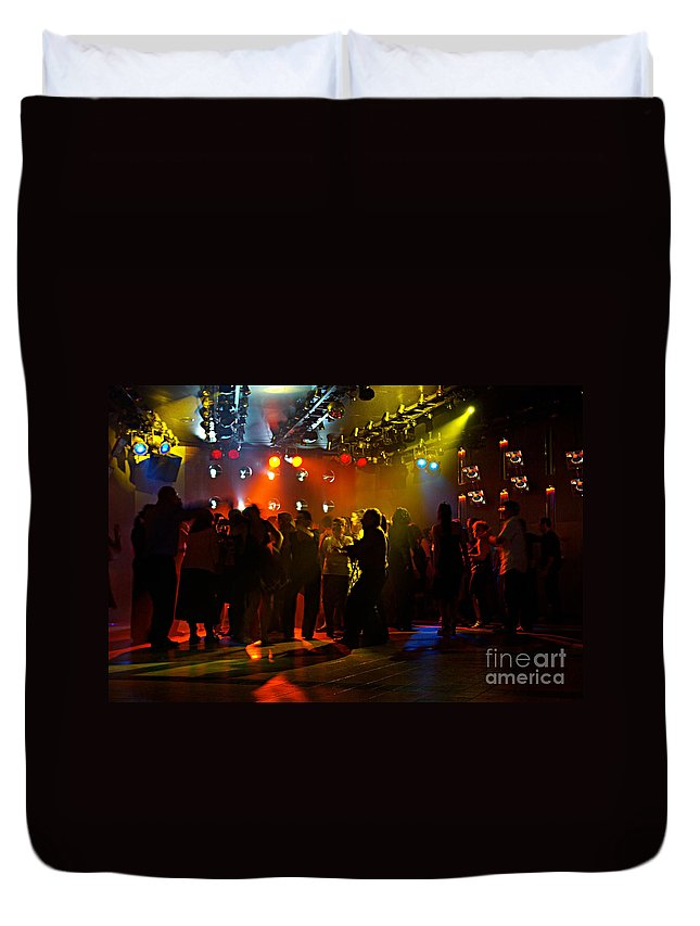Dance Duvet Cover featuring the photograph Dancing To The Music by Zal Latzkovich