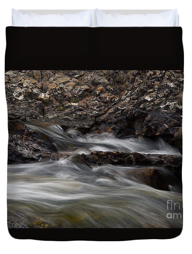 Water Duvet Cover featuring the photograph Dancing Waters 5 by Bob Christopher