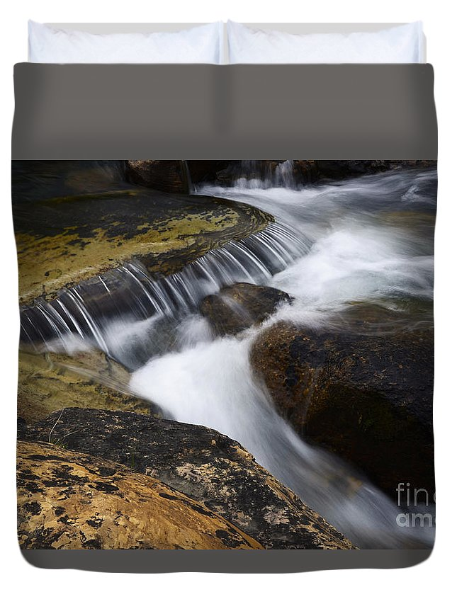 Water Duvet Cover featuring the photograph Dancing Waters 6 by Bob Christopher