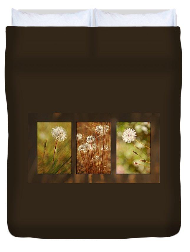 Dandelions Duvet Cover featuring the photograph Dandelion Series by Jill Reger
