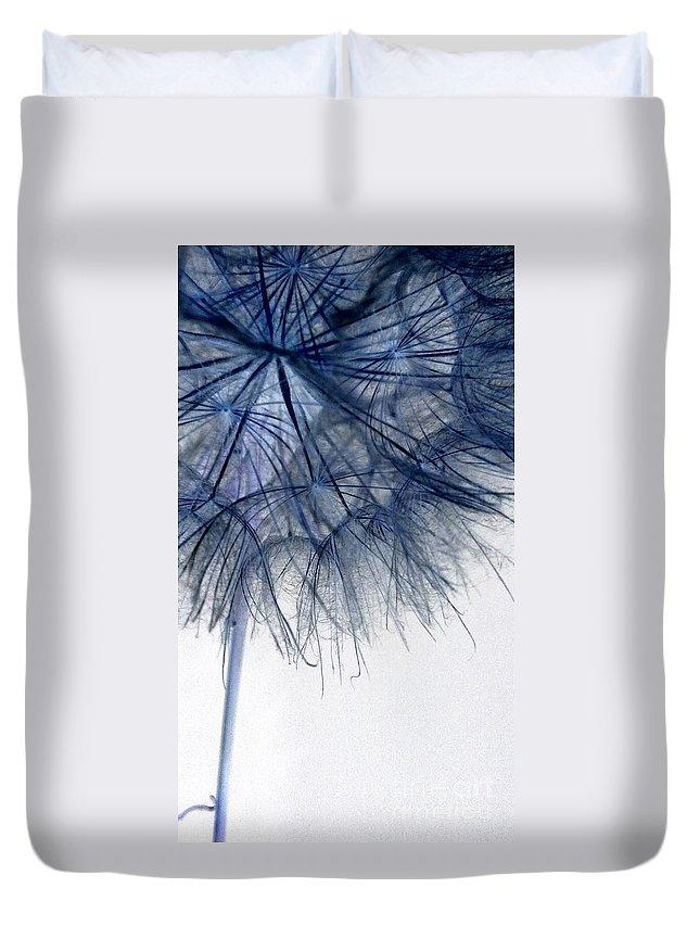 Dandelion Duvet Cover featuring the photograph Dandelion Twenty Five by LKB Art and Photography