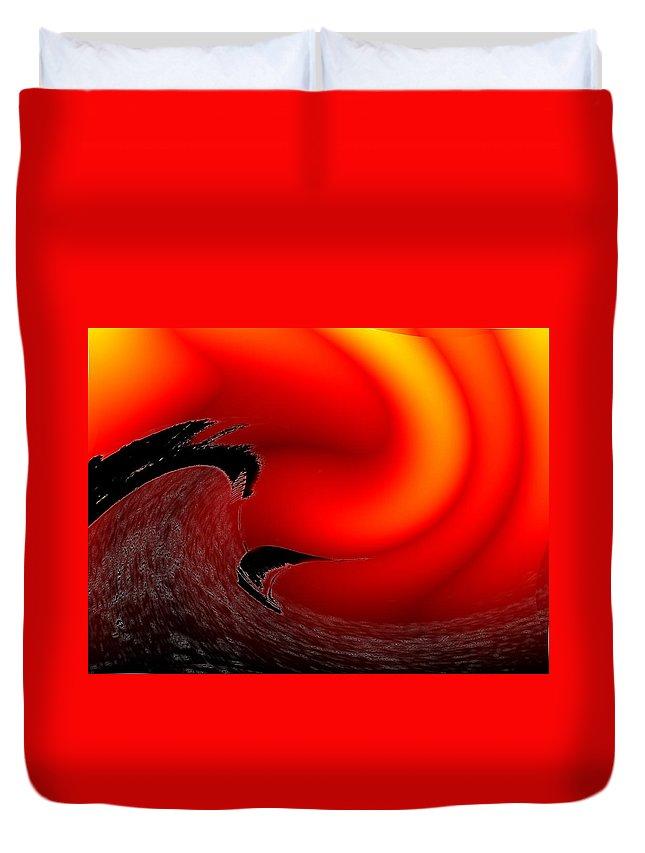 Danger Duvet Cover featuring the photograph Dangerous Waters Off Alki by Tim Allen