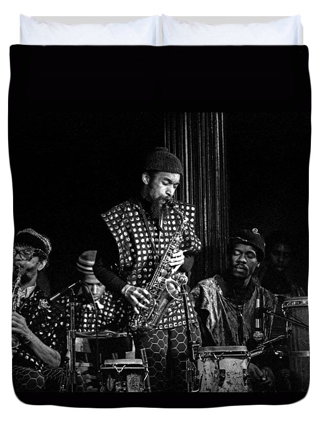 Jazz Duvet Cover featuring the photograph Danny Davis With Sun Ra Arkestra by Lee Santa