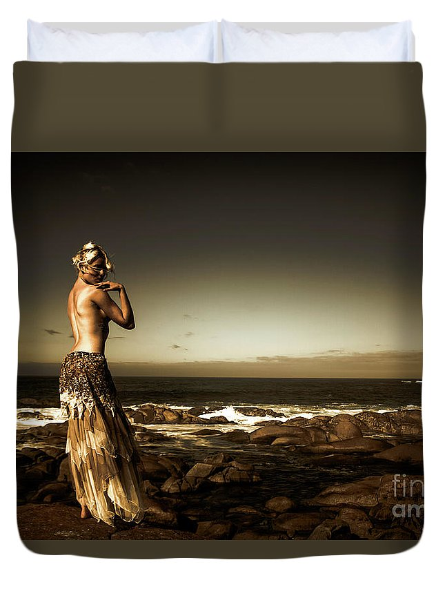 Beautiful Duvet Cover featuring the photograph Dark Dramatic Fine Art Beauty by Jorgo Photography - Wall Art Gallery