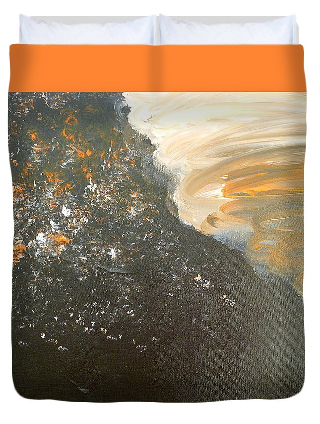 Dark Duvet Cover featuring the painting Dark Storm by Barbara Yearty