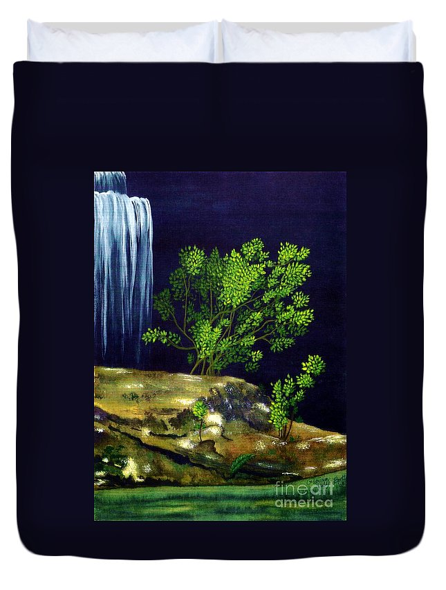 Fine Art Duvet Cover featuring the painting Dark Waters by Patricia Griffin Brett