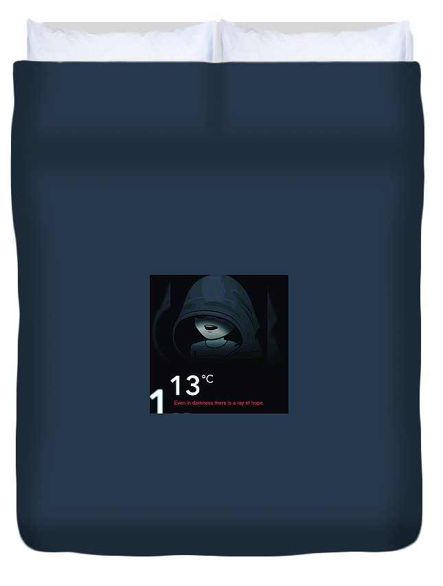 Dark Duvet Cover featuring the photograph Darkness by Anant Prakash