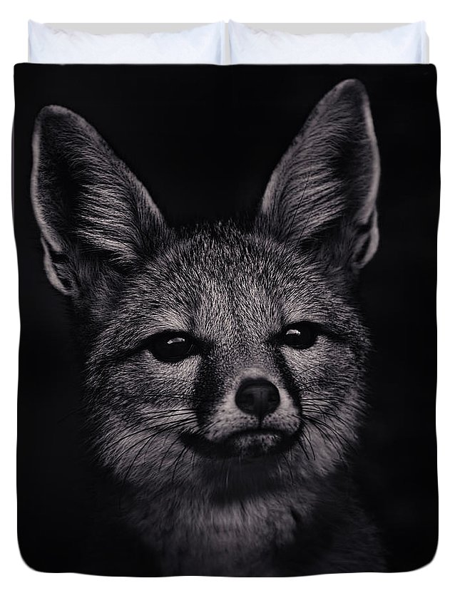 Animal Duvet Cover featuring the photograph Dash by Brian Cross