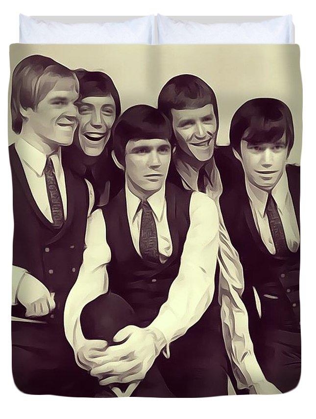 Dave Duvet Cover featuring the digital art Dave Clark Five by John Springfield