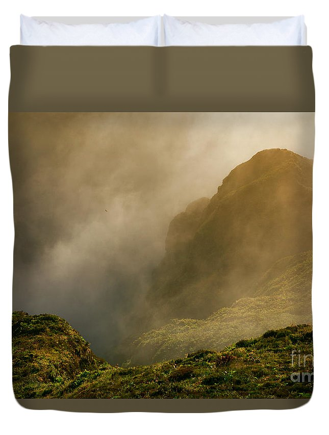 Azores Duvet Cover featuring the photograph Dawn At Fogo Crater by Gaspar Avila