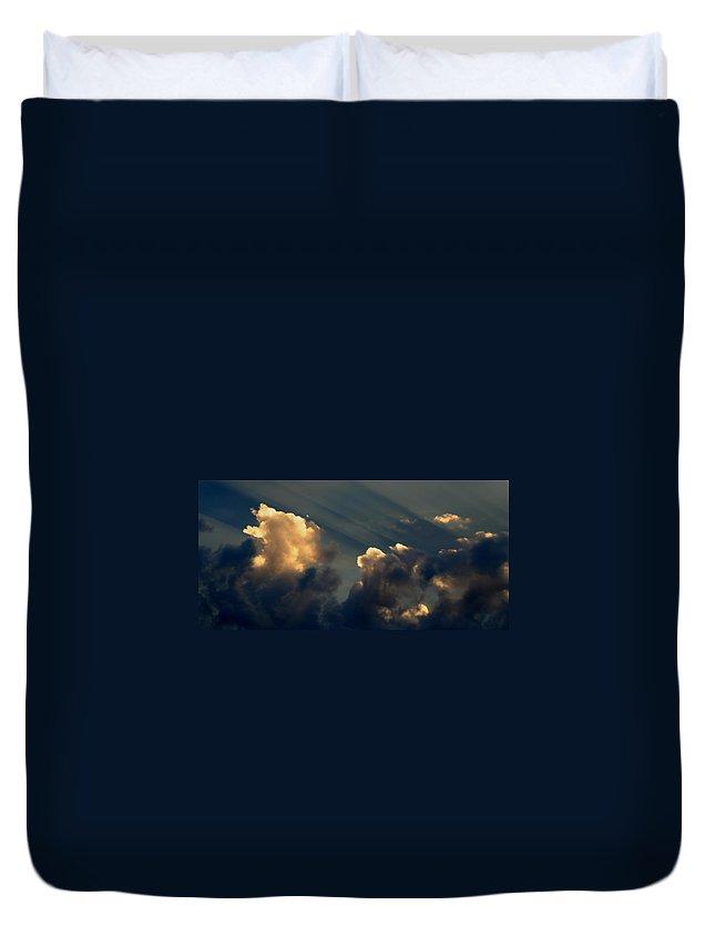 Cloud Duvet Cover featuring the photograph Dawn Bursting In Air by Joe Kozlowski
