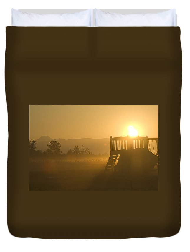 Sunrise Duvet Cover featuring the photograph Dawn by Louise Magno