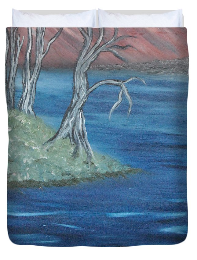 Landscape Duvet Cover featuring the painting Day Dreams by Suzanne Surber